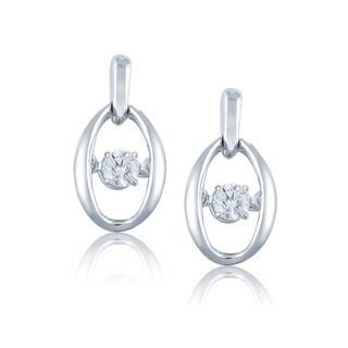 Auriya 14k White Gold 1/5ct TDW Dancing Stone Moving Diamond Earrings (H-I, I1-I2)