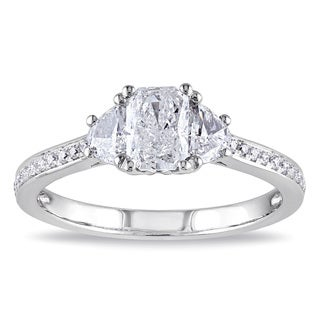Miadora Signature Collection 14k White Gold 1ct TDW Radiant Cut Diamond Ring