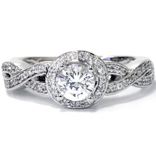14k White Gold 1ct TDW Diamond Vintage Engagement Ring (I-J, I2-I3)
