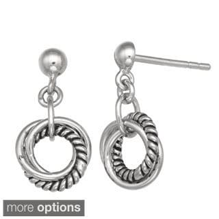 Gioelli Sterling Silver Dangle Knot Earrings