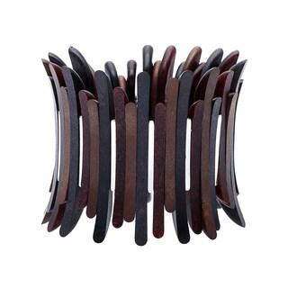 Alexa Starr Freeform Design Look of Wood Stretch Bracelet