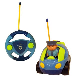 DimpleChild CartoonCar Music and Lights Remote Control Police Car