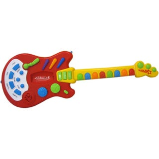 Link to Dimple DC5138 Toy Electric Guitar with over 20 Interactive Buttons, Levers and Modes with Sound and Lights Similar Items in Musical Instruments