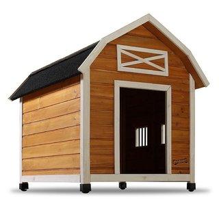Pet Squeak The Barn Raised Wooden Dog House