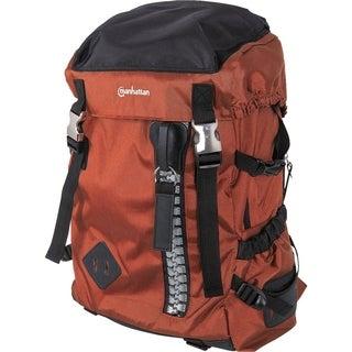 "Manhattan Zippack 15.6"" Laptop Backpack, Orange/Black"