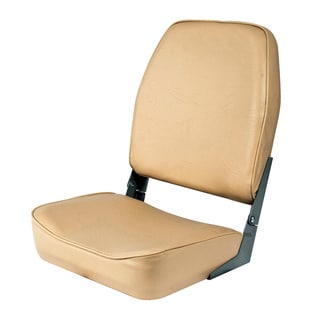 Shoreline Marine High Back Boat Seat - Sand