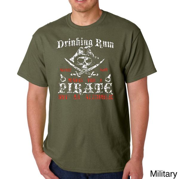 Mens Rum Drinking Pirate T-shirt