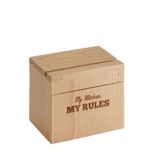 Cake Boss Countertop Accessories 'My Kitchen My Rules' Beechwood Recipe Box