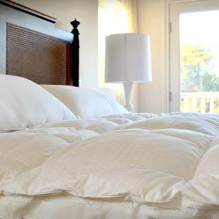 CozyClouds by DownLinens Luxury Down Top Featherbed - White