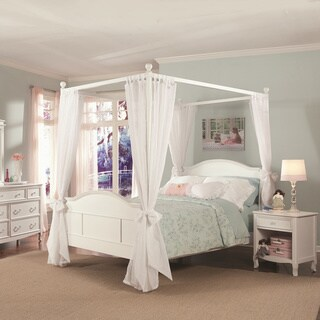 Emma Four Poster Canopy Full Bed, with Headboard, and Footboard