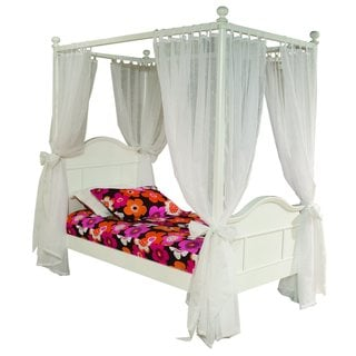 Emma 4-post Twin Bed with Tall Headboard and Footboard