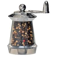 Chrome Stainless Steel and Acrylic Pepper Mill