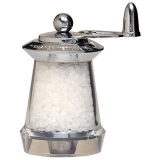 Stainless Steel and Acrylic Hand-crank Salt Mill