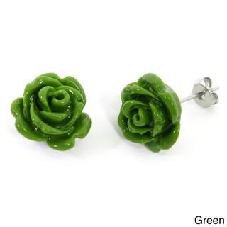 Eternally Haute Steeling Beauty Garden Collection Stud Earrings