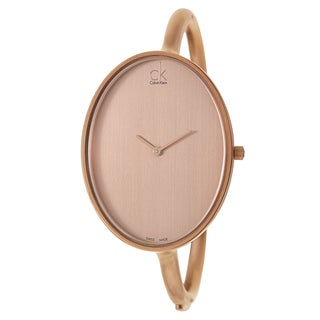 Calvin Klein Women's K3D1S61A Contemporary 'Sartoria' Rose Gold PVD Coated Stainless Steel Swiss Quartz Watch