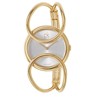 Calvin Klein Women's K4C2S516 'Inclined' Yellow Gold PVD Coated Stainless Steel Swiss Quartz Watch