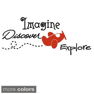 'Imagine, Discover, Explore' Vinyl Wall Decal