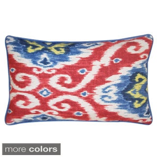 12 x 20-inch Kylanne Ikat-style Lumbar Throw Pillow