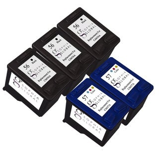 Sophia Global Remanufactured Ink Cartridge Replacement for HP 56 and HP 57 (Pack of 5)