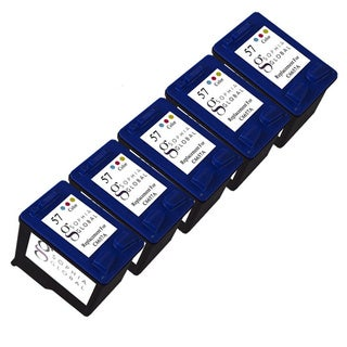 Sophia Global Remanufactured Color Ink Cartridge Replacement for HP 57 (Pack of 5)