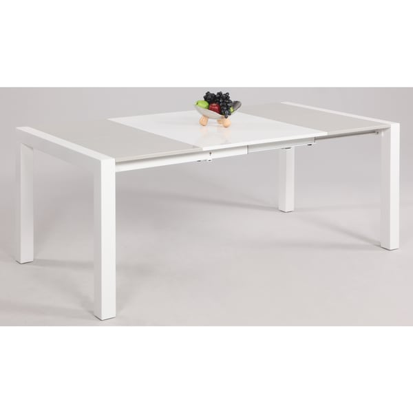 Somette White Grey Parson Extendable Dining Table Free Shipping