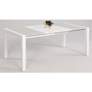 Somette White/ Grey Parson Extendable Dining Table
