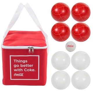 Link to Coca Cola Regulation Size Bocce Ball Set Similar Items in Camping & Hiking Gear