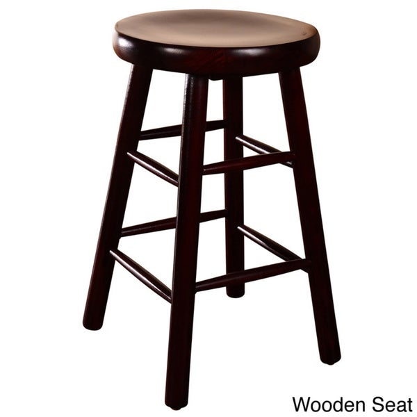 Backless Beechwood Counter Stool - Free Shipping Today - Overstock.com ...