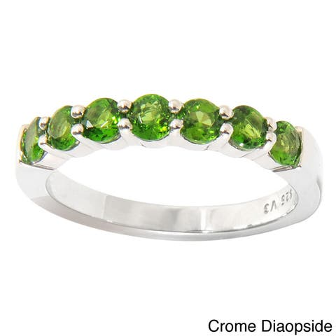Sterling Silver 7-stone Gemstone Ring