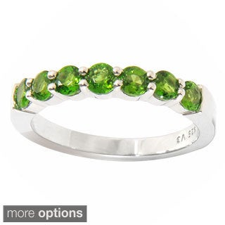 Sterling Silver 7-stone Gemstone Ring