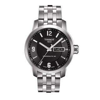 Tissot Men's 'Powermatic 80' Black Dial Stainless Steel Watch