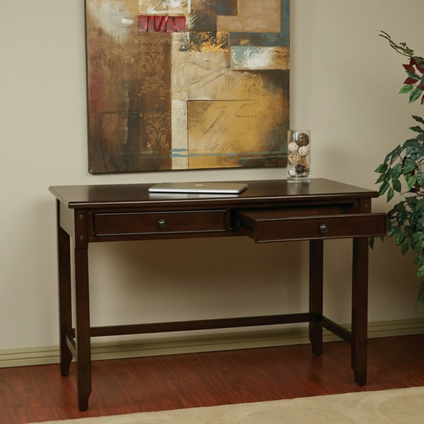 Dual Storage Drawers Computer Desk - Free Shipping Today - Overstock