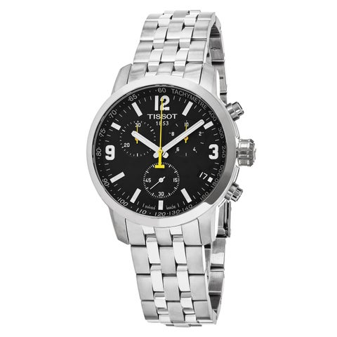 Tissot Men's T0554171105700 'PRC200' Chronograph Stainless Steel Watch