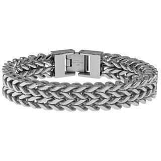 Stainless Steel Two-row Wheat Chain Bracelet