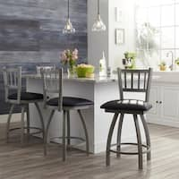 Padded Black Vinyl and Steel Frame Bar Stool