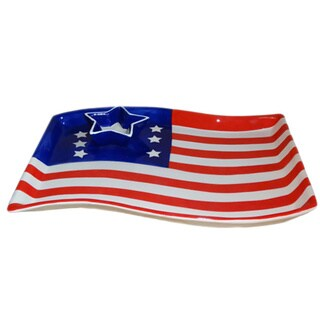 KitchenWorthy Patriotic Chip and Dip Platter (Case of 6)