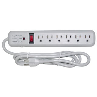 Offex 6 ft 6 Outlet 3 MOV 540 Joules EMI / RFI Surge Suppressor