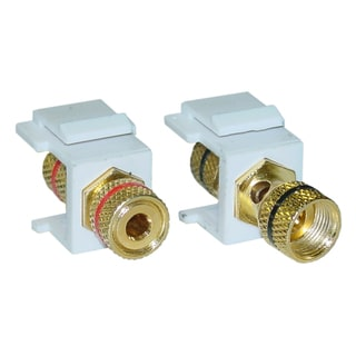 Offex Banana Keystone Insert Female / Female Coupler (Set of 2)