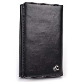 Kroo's Men's Leather BiFold Wallet and 5-inch Smartphone Case (More options available)