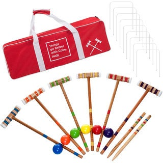 Coca Cola 24-piece Regulation Size Croquet Set