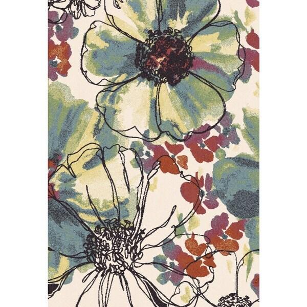 Eternity Floral Patina Rug (5.3' x 7.7')