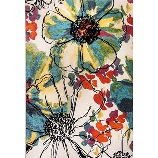 Eternity Floral Patina Rug (5.3' x 7.7') - 5'3 x 7'7