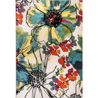 Eternity Floral Patina Rug (5.3' x 7.7') - 5'3 x 7'7