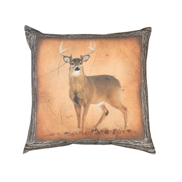 Manual Woodworkers Deer Print Double Sided 16-inch Throw Pillow