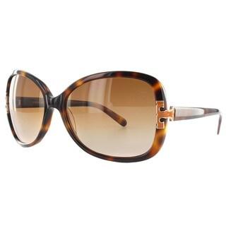 Tory Burch Women's 'TY 7022' Amber Tort Gradient Plastic Oval Sunglasses