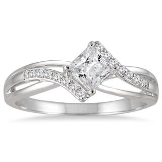Marquee Jewels 10k White Gold 1/2ct TDW Princess-cut Diamond Ring|https://ak1.ostkcdn.com/images/products/9056076/10k-White-Gold-1-2ct-TDW-Princess-cut-Diamond-Ring-H-I-I1-I2-P16251250.jpg?impolicy=medium