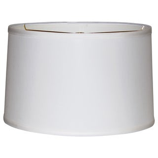 Crown Lighting Off-white Linen Wide Width Drum Lampshade