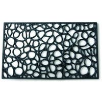 Loop Casual Black Door Mat (1'6 x 2'6)