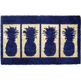 Handmade Four Pineapples Door Mat (1'6 x 2'6)