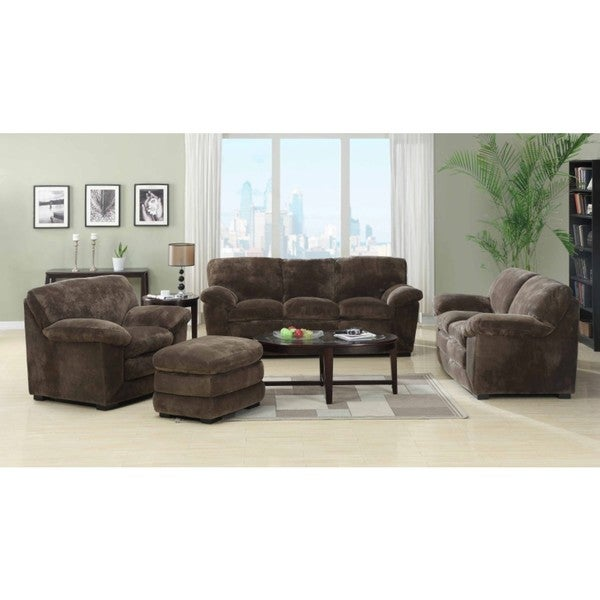 Emerald devon mocha 4 piece livingroom set free shipping for 4 piece living room set